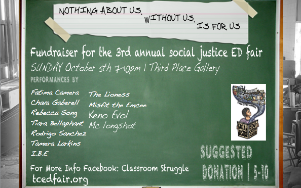 A Fundraiser for the 3rd Annual Twin Cities Social Justice Education Fair!