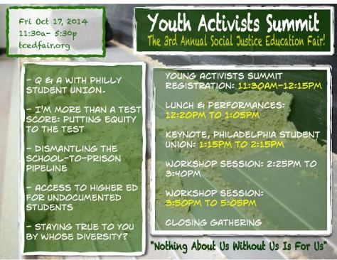 youth activists summit flier